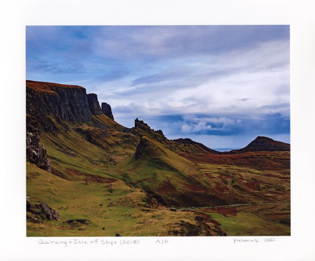 "Quiraing - Isle of Skye by Richard Palanuk. Chromogenic print, A/P, 10 x 12"", 2018."