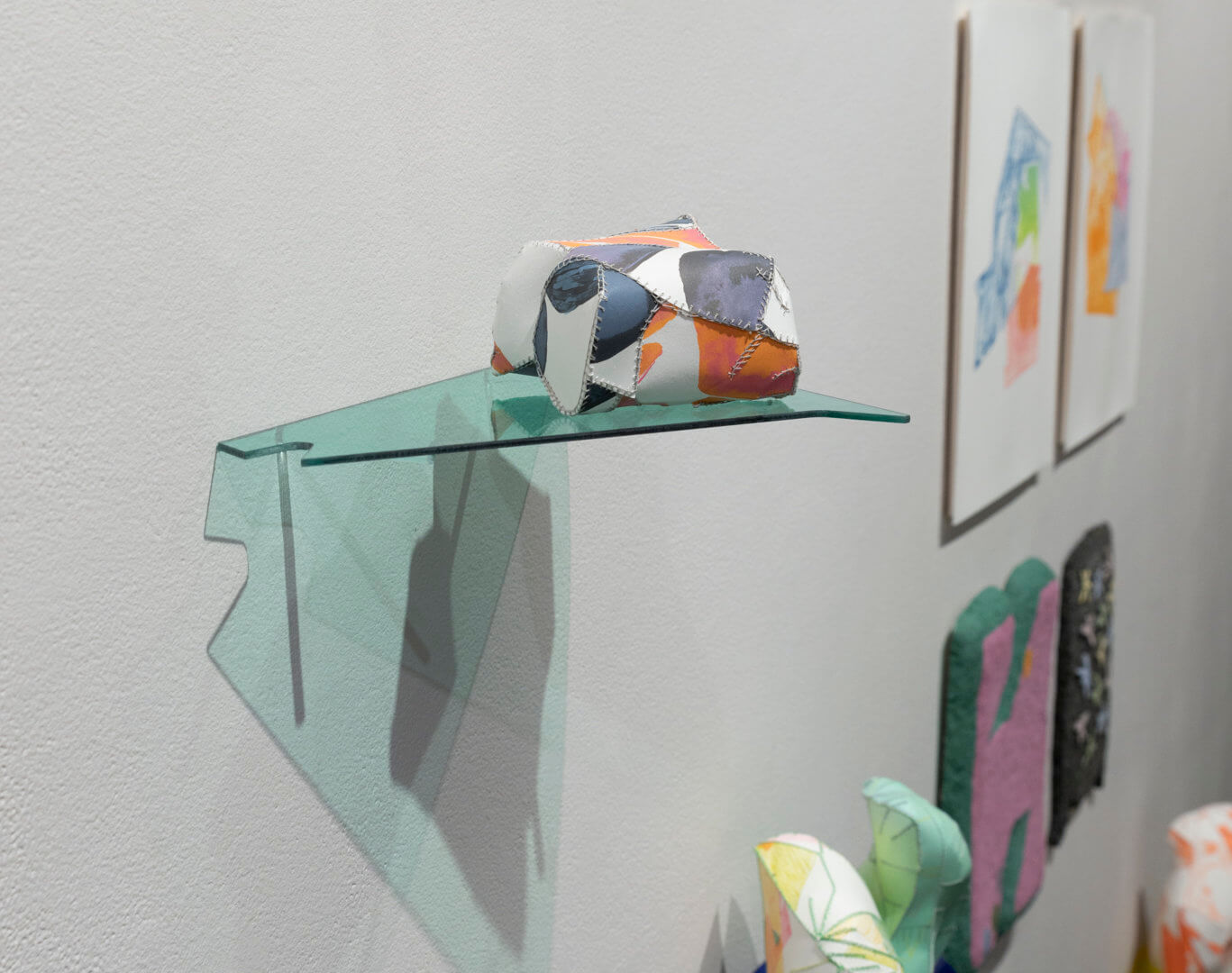 Installation view of Playground Chitchat. Detail of works by Neah Kelly and Bram Keast. Image credit: Sarah Fuller.