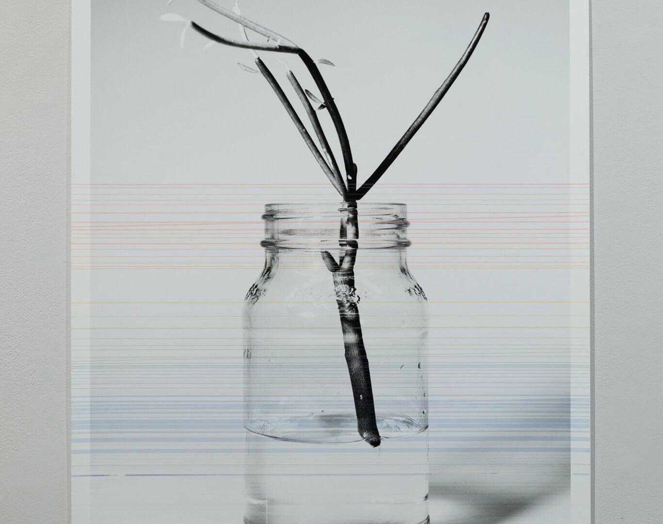 "Futures Barren Film Stills: II by April Dean. Inkjet and screen print. 36 x 24"". 2019. Image credit: Sarah Fuller."
