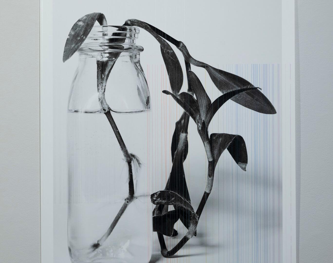 "Futures Barren Film Stills: III by April Dean. Inkjet and screen print. 36 x 24"". 2019. Image credit: Sarah Fuller."