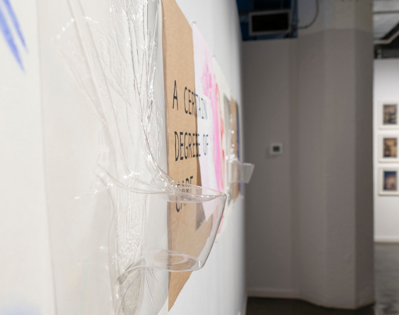 Detail of Living With by April Dean. Screen prints and plastic vacuum forms. Approx. 24 x 13'. 2021. Image credit: Sarah Fuller.
